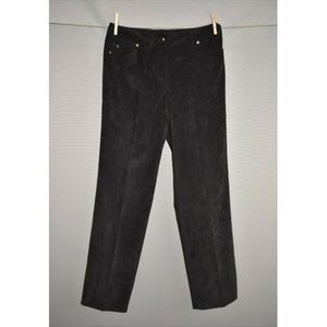 NEW DIRECTIONS Black Straight Leg Corduroy Pant